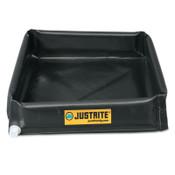 Justrite Mini-Berm Flex Trays, Black, 110 gal, 6 ft x 5 ft, 1/EA, #28448