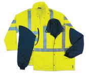 Ergodyne GloWear 8385 Class 3 4-In-1 Thermal Jackets, X-Large, Lime, 1/EA, #24385