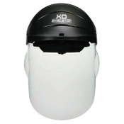 MCR Safety XO Skeleton Headgear with Molded Faceshield, Clear Polycarb Faceshield, 1/EA, #104