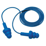3M E-A-R Ultrafit Metal Detectable Earplugs VP340-4007, Polyurethane, Blue, Corded, 500/CA, #7000148547