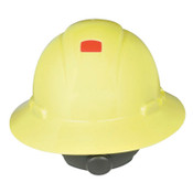 3M Full Brim Hard Hats, 4 Point, Ratchet, Hi Viz Yellow, 20/CA, #7000144962