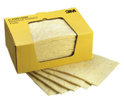 3M High-Capacity Chemical Sorbent Pads, Absorbs 3.92 gal, 150/CS, #7000001947