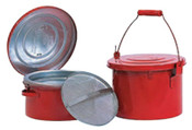 Eagle Mfg Bench and Daub Cans, Oiler, 8 qt, Red, 1/CAN, #B608