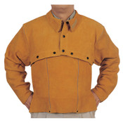 Best Welds Leather Cape Sleeves, Snaps Closure, 3X-Large, Golden Brown, 1/EA, #Q23XL