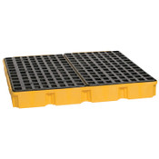 Eagle Mfg 4-Drum Modular Platforms, Yellow, 10,000 lb, 60.5 gal, 52 1/2 in x 51 1/2 in, 1/EA, #1635