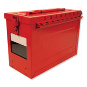 MASTER LOCK Red Steel Group Lockout Box, Max Number of Padlocks: 19, 9-1/16 in x 6-27/64 in, 1/EA, #S602
