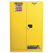 Justrite Safety Cabinets for Combustibles, Manual-Closing Cabinet, 60 Gallon, Yellow, 1/EA, #894510