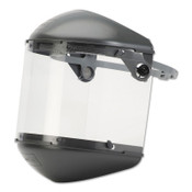 Honeywell Dual Crown Faceshield Systems, 4 in Crown, Speedy Loop, Clear/Noryl, 1/EA, #FM5400DCCL