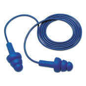 3M E-A-R Ultrafit Earplugs, Elastomeric Polymer, Corded, Poly Bag, 100/BX, #7000002319
