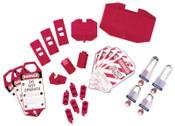 Brady Electrical Lockout Starter Kits, 43-Piece plus Carrying Bag, 1/KIT, #65777