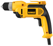 DeWalt 3/8 in Heavy-Duty VSR Drills, Keyless Chuck, 2,500 rpm, 7 A, Heavy Duty Kit Box, 1/EA, #DWD110K