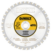 DeWalt Aluminum Cutting Saw Blades, 6 1/2 in, 36 Teeth, 5/EA, #DW9152
