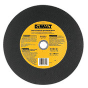 DeWalt Type 1 - Cutting Wheels, 12 in, 1 in Arbor, A24R, 5,100 rpm, Metal Cutting, 10/BOX, #DW8004