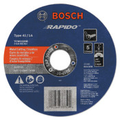 "Bosch Tool Corporation Thin Cutting/Rapido Type 1A (ISO 41) Wheels, 5"", 7/8 in Arbor, AS60INOX-BF Grit, 1/EA, #TCW1S500"