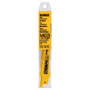 DeWalt Bi-Metal Reciprocating Saw Blades, 12 in, 5/8 TPI, Taper Back, Wood, 5/PK, 5/PKG, #DW4849