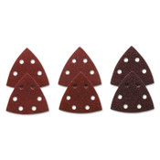 Bosch Tool Corporation RED DETAIL SANDING TRIANGLE  60/120/240GR (6PK), 1/PK, #SDTR000
