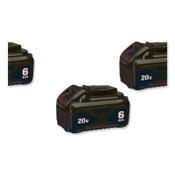 DeWalt 20.0V Li-Ion Battery, 6.0Ah Capacity, 2PK, 1/EA, #DCB2062