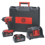 Chicago Pneumatic Cordless Impact Wrench Kit, 3/8 in, 1/EA, #8941088281