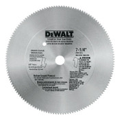 DeWalt Steel Circular Saw Blades, 7 1/4 in, 140 Teeth, 5/EA, #DW3326