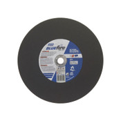 Norton Blue Fire Chop Saw Cut-Off Wheels, 14 in, 1 in Arbor, 36 Grit, 4,365 rpm, 10/PK, #66252843252