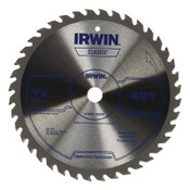 Stanley Products Classic Series Portable Corded Carbide Saw Blade, 7-1/4 in dia, 40 Tooth Ct, 1/EA, #15230ZR