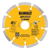 DeWalt Diamond Saw Blade, Masonry, 4-1/2 in. Dia., 3/CA, #DW4740