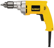 DeWalt 3/8 in Heavy-Duty VSR Drills, Keyed Chuck, 1,200 rpm, 1/EA, #DW223G