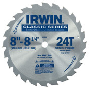 Stanley Products Carbide-Tipped Circular Saw Blades, 8 1/4 in, 24 Teeth, 5/EA, #15150