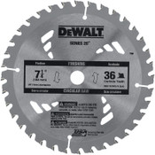 DeWalt Portable Construction Saw Blades, 7 1/4 in, 36 Teeth, 5/EA, #DW3176