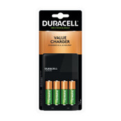 Duracell ION SPEED 1000 Advanced Charger, Includes 4 AA NiMH Batteries, 4/EA, #DURCEF14