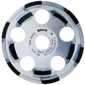 Bosch Tool Corporation 5 in. Double Row Diamond Cup Wheel, 7/8 in Arbor, Grit, 12,200 rpm, 1/EA, #DC510