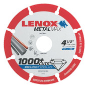 Stanley Products MetalMax Cut-Off Wheels, 10 in Dia., 5/8 in Arbor, 5900 rpm, 1/EA, #1972926