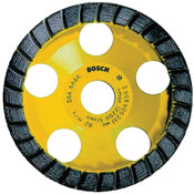Bosch Tool Corporation 5 in. Turbo Row Diamond Cup Wheel, 7/8 in Arbor, 12,200 rpm, 1/EA, #DC530