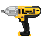 DeWalt 20V MAX* High Torque Cordless Impact Wrench (Bare Tool), 1/2 in, 1,500 RPM, Detent Pin Anvil, 1/EA, #DCF889B