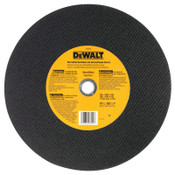 DeWalt Type 1 - Cutting Wheels, 14 in, 1 in Arbor, A24R, 4,400 rpm, Bar Cutter, 1/EA, #DW8002