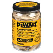 DeWalt Biscuits, 5/8 in x 1 27/32 in, Size 0, 1/EA, #DW6804