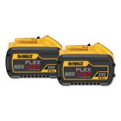 DeWalt 20.0/60.0V Li-Ion Battery, 9.0Ah Capacity, 2PK, 1/EA, #DCB6092
