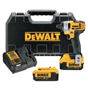 DeWalt 20V MAX XR Lithium-Ion Impact Driver Kits, Belt Hook, Case, Charger, 1/EA, #DCF885M2