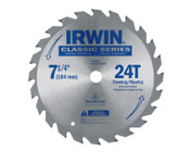 Stanley Products Classic Series Portable Corded Carbide Saw Blade, 7-1/4 in dia, 24 Tooth Ct, 1/EA, #25130