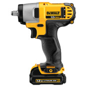 DeWalt 12V MAX* Compact Cordless Impact Wrench Kit, 3/8 in, 2,450 RPM, Hog Ring Anvil, 1/EA, #DCF813S2