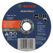 "Bosch Tool Corporation Thin Cutting/Rapido Type 1A (ISO 41) Wheels, 4"", 5/8 in Arbor, AS60INOX-BF Grit, 25/EA, #TCW1S400"