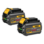 DeWalt Battery Packs, 6 A-h, 20/60 V - 2-Pack, 1/EA, #DCB6062