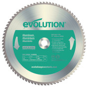 Evolution TCT Metal-Cutting Blades, 14 in, 1 in Arbor, 1,600 rpm, 80 Teeth, 1/EA, #14BLADEAL