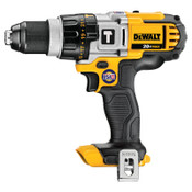 DeWalt 20V MAX* Lithuim Ion Cordless Premium 3-Speed Hammerdrills (Tool Only), 1/2 in, Ratcheting, 2,000 rpm, 1/EA, #DCD985B
