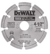DeWalt Segmented Rim Diamond Blades, 4 1/2 in, 1/EA, #DW4713