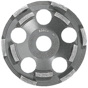 "Bosch Tool Corporation 5 In. Double Row Segmented Diamond Cup Wheel for Coating, 7/8"" Arbor, 12,200 rpm, 1/EA, #DC500"