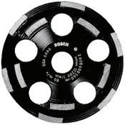 "Bosch Tool Corporation 5"" Double Row Segmented Diamond Cup Wheel for Concrete, 7/8"" Arbor, 12,200 rpm, 1/EA, #DC520"