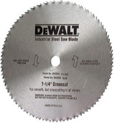 DeWalt Steel Circular Saw Blades, 7 1/4 in, 60 Teeth, 5/CTN, #DW3332