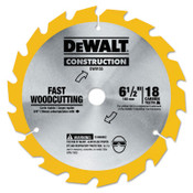 DeWalt Cordless Construction Saw Blades, 6 1/2 in, 16 Teeth, 5/EA, #DW9155