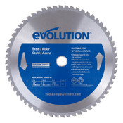 Evolution TCT Metal-Cutting Blades, 12 in, 1 in Arbor, 1,600 rpm, 60 Teeth, 1/EA, #12BLADEST
